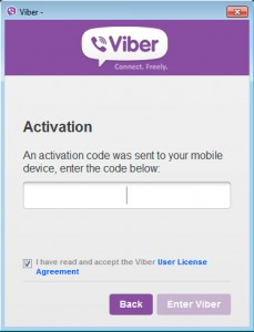 Viber PIN Activation PC